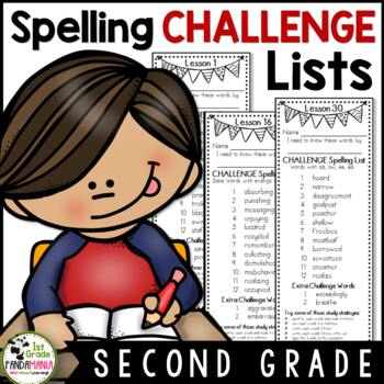 Journeys 2nd Grade Spelling Lists Challenge Aligned With HMH Journeys