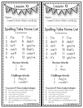 Journeys 2nd Grade Spelling Lists (Weekly) aligned with HMH Journeys