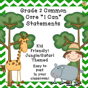 "Grade 2 ""I Can""  Kid Friendly Statements for classroom - S"