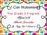 Grade 2 I Can Statements Bundle aligned with the Alberta C