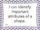 "Grade 2 ""I can"" MATH Learning Target Printables - Purple Chevron"