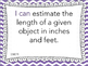 "Grade 2 ""I can"" MATH Learning Target Printables - Purple Chevron"