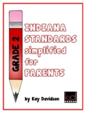 Grade 2 Indiana Standards simplified for PARENTS by Kay Davidson