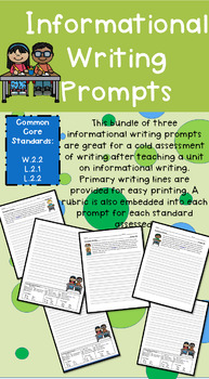 Grade 2 Informational Writing Prompts