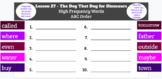 Grade 2 Journeys High Frequency Words ABC Order Google Slides Activity BUNDLE