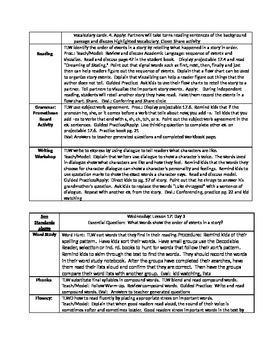 Grade 2: Journeys Lesson Plans 17-19