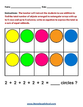 Grade 2 -  Kansas  -  Algebraic Operations  - Common Core