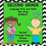 Grade 2 Language Arts, ELA Math Test Prep Bundle SAT10