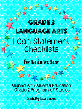Grade 2 Language Arts I Can Checklists