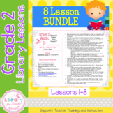 Gr. 2: 8 Lessons (Book Care, Incentive Programs, Legos & Nonfiction, Flip Books)