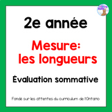 Grade 2 Linear Measurement Test (French)