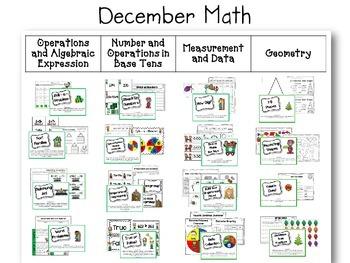 Grade 2 Literacy & Math Centers Menu WINTER BUNDLE {CCS Aligned}