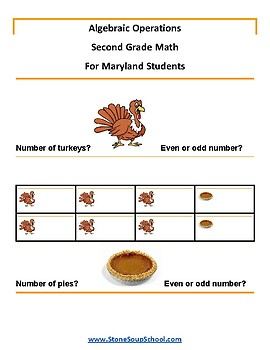 Grade 2 -  Maryland -  Algebraic Operations  - Common Core