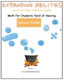 Grade 2 Math Bundle- Geometry,Algebra, M & D, Base 10 -Students Hard of Hearing