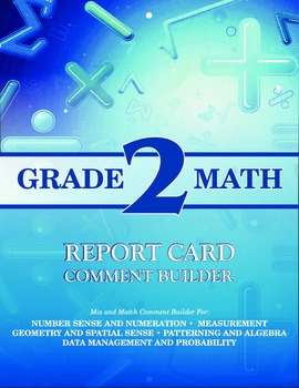 Grade 2 Math Comment Builder