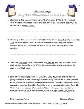"""Grade 2 Math Enrichment Project - """"Place Value Palace"""""""