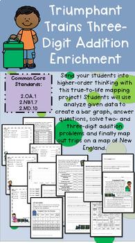 "Grade 2 Math Enrichment Project - Three-Digit Addition - ""Triumphant Trains"""