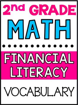 Grade 2 Math: Financial Literacy Vocabulary Posters (Texas TEKS Aligned)