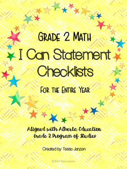 Grade 2 Math I Can Checklists