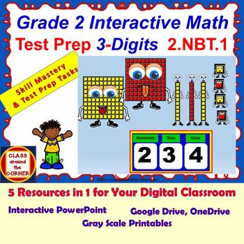 2.NBT.1 Grade 2 Math Interactive Test Prep—3-Digit Numbers 2.NBT.1
