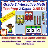 2.NBT.1 Math Interactive Test Prep: Hundreds, Tens & Ones – in 3 Formats