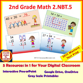 2.NBT.5 Math Interactive Test Prep – ADD / SUBTRACT WITHIN 100 - in 3 Formats