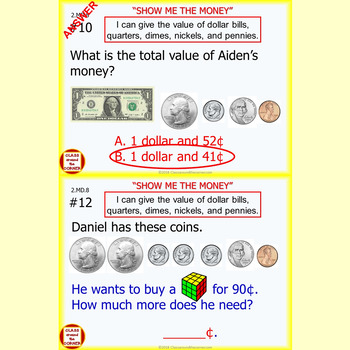 2.MD.8 Grade 2 Math Interactive Test Prep—MONEY MASTERY for 2.MD.8