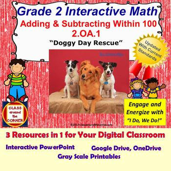 2.OA.1 Grade 2 Math Interactive Test Prep—Adding & Subtracting Within 100 2.OA.1