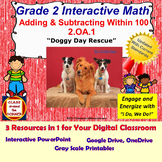 2.OA.1 Math Interactive Test Prep – Add and Subtract Within 100 in 3 Formats
