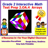 2.OA.4 Math Interactive Test Prep – Rows and Columns in Arrays in 3 Formats