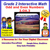 2.OA.3 Math Interactive Test Prep – Odd and Even Numbers in 3 Formats