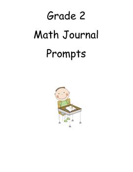 Grade 2 Math Journal prompt labels