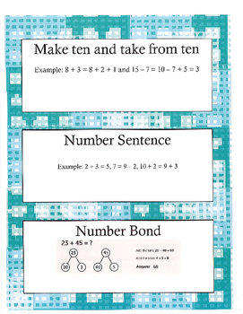 Grade 2 Math Module 1 Vocabulary Cards!