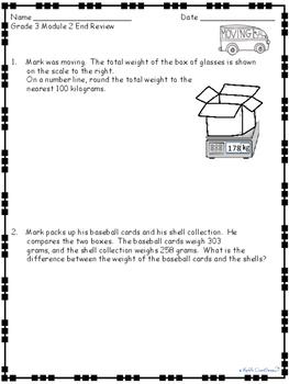 Grade 2 Math Module 2 End-Module Reviews and Answer Keys