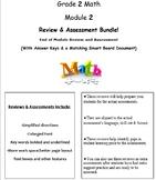 Grade 2, Math Module 2 REVIEW & ASSESSMENT w/Ans keys (printables & Smart Board)