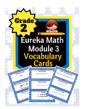 Grade 2 Math Module 3 Vocabulary Cards!