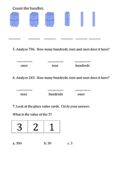 Grade 2 Math Module 3 review packet