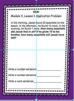 Grade 2, Math, Module 4 Application Problems