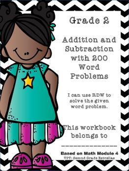 Grade 2 Math Module 4 Application Problems Workbook (43 pgs)