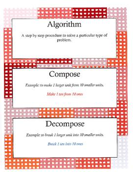 Grade 2 Math Module 4 Vocabulary Cards!