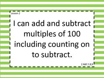 Grade 2 Math Module 5 Learning Targets Large Format