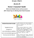 Grade 2, Math Module 5 REVIEW & ASSESSMENT w/Ans keys (printables & Smart Board)