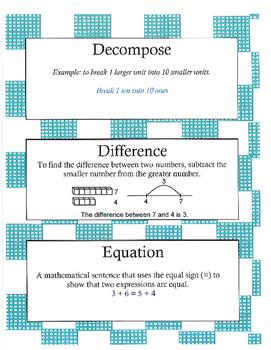Grade 2 Math Module 5 Vocabulary Cards!