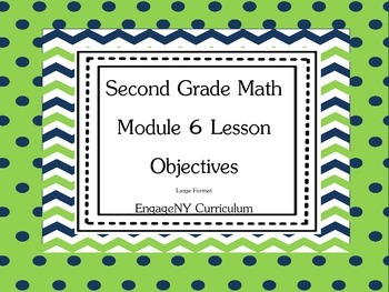 Grade 2 Math Module 6 Learning Targets Large Format