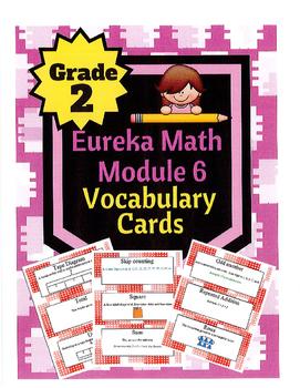 Grade 2 Math Module 6 Vocabulary Cards!