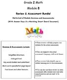 Grade 2, Math Module 8 REVIEW & ASSESSMENT w/Ans keys (pri
