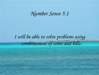 Grade 2 Math Number Sense 5.1 - Solve Problems Using Coins and Bills