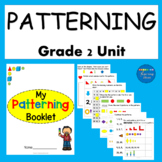 2nd Grade Math Worksheets Patterning Unit Print and Go!