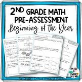 2nd Grade Math Pre-Assessment Beginning of Year Math Test Intervention Tool