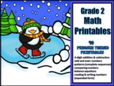 2nd Grade Math Printables - Winter